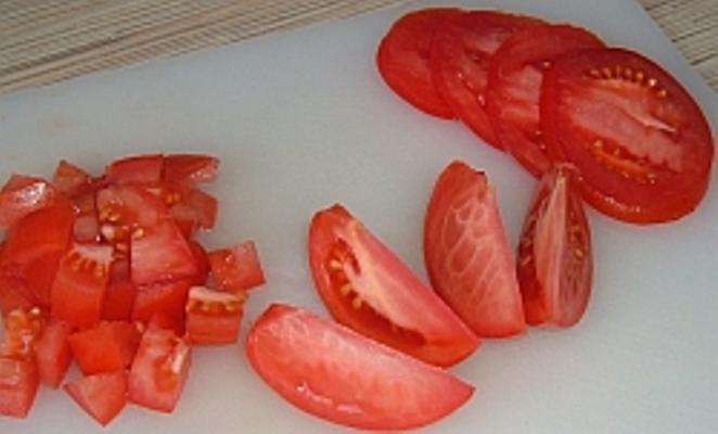 нарезка из томатов
